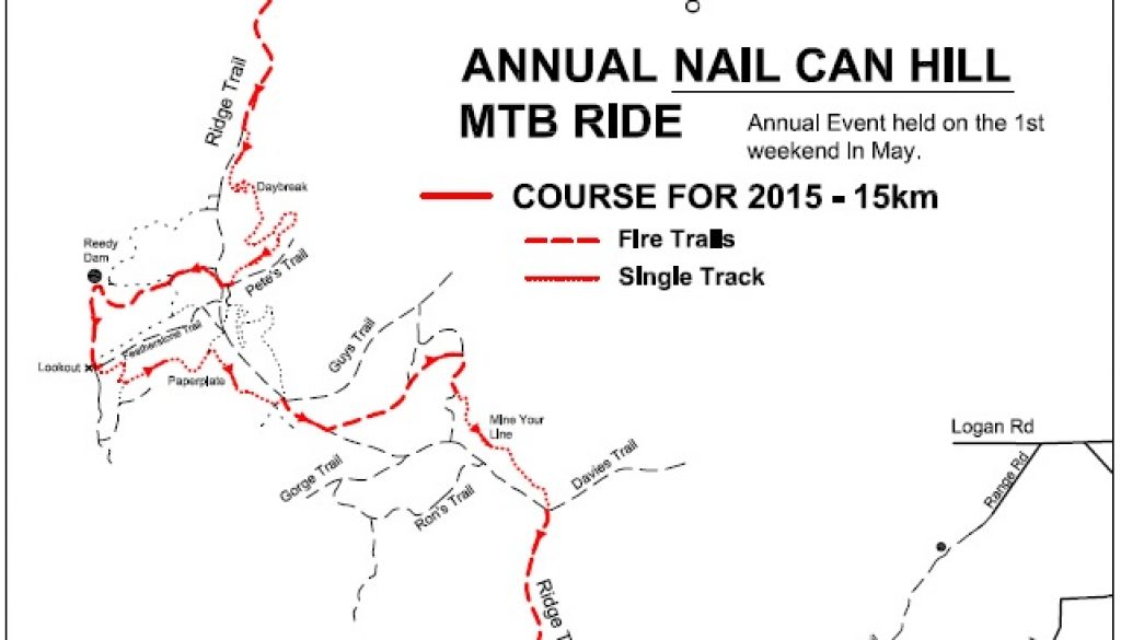 Nail Can MTB ride Course Map